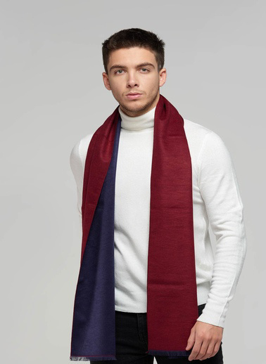 Silk and Cashmere Atkı Bordo